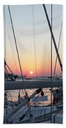 Trieste Sunset Beach Towel by Helga Novelli