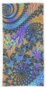 Trippy Vibrant Fractal  Beach Towel