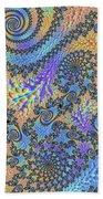 Trippy Vibrant Fractal  Beach Sheet