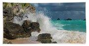 Tropical Beach Splash Beach Towel