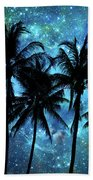 Tropical Night Beach Towel