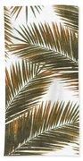 Tropical Palm Leaf Pattern 6 - Tropical Wall Art - Summer Vibes - Modern, Minimal - Brown, Copper Beach Towel