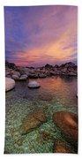 Twilight Canvas  Beach Towel by Sean Sarsfield