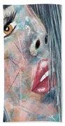 Twilight - Woman Abstract Art Beach Sheet