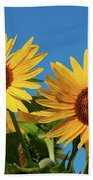Two Sunflowers Beach Towel