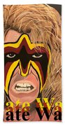 Ultimate Warrior Writing Version Beach Towel