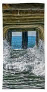 Under The Pier Manhattan Beach Towel by Michael Hope