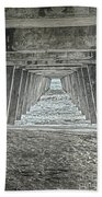 Under The Tybee Island Pier Beach Towel by Judy Hall-Folde