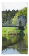 Union Chain Bridge At Horncliffe On River Tweed Beach Towel