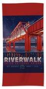 Union Railroad Bridge - Riverwalk Beach Towel by Clint Hansen