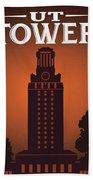 University Of Texas Tower Beach Towel