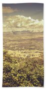 Up Above The Land Down Under Beach Towel