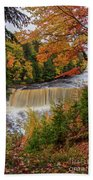 Upper Tahquamenon Autumn Colors -0007 Beach Towel