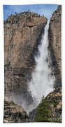 Upper Yosemite Fall Beach Towel