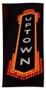 Uptown Signage 5 Beach Towel