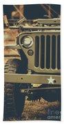 Us Army Jeep World War II Beach Towel