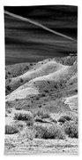 Valley Of Fire Black White Nevada  Beach Towel