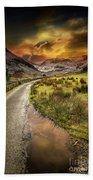 Valley Sunset Snowdonia Beach Towel