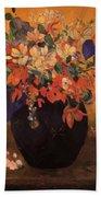 Vase Of Flowers 1896 Beach Towel