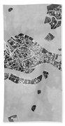 Venice Italy City Map Beach Towel