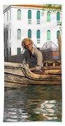 Venice Pause In The Evening Beach Sheet