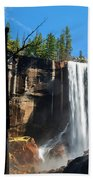 Vernal Fall, Yosemite National Park Beach Towel