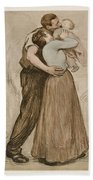 Victor Emile Prouve  French  1858   1943 The Kiss  Le Baiser  1898  Collotype On Wove Paper Beach Towel