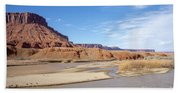 View At Sorrel River Ranch On The Colorado River Near Moab, Utah Beach Sheet