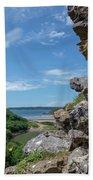 View From Pennard Castle Portrait Beach Towel