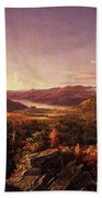 View Of Greenwood Lake, New Jersey Beach Towel
