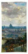 View Of Paris - Digital Remastered Edition Beach Towel