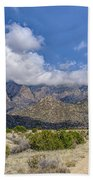 View Of Sandia Mountain Beach Towel