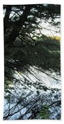 View Of The Lake Through The Branches Beach Towel