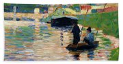 View Of The Seine - Digital Remastered Edition Beach Towel
