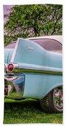 Vintage Blue Caddy American Vintage Car Beach Sheet