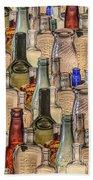 Vintage Glass Bottles Collage Beach Sheet