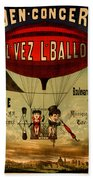 Vintage Hot Air Balloon Beach Towel