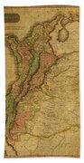 Vintage Map Of Columbia 1818 Beach Towel