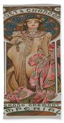 Vintage Poster - Champagne Beach Towel