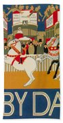 Vintage Poster - Derby Day Beach Towel