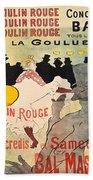 Vintage Poster - Toulouse Lautrec Beach Towel