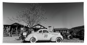 Vintage Race Car Gold King Mine Ghost Town Beach Sheet