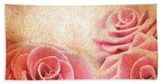 Vintage Roses Beach Towel