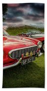 Volvo P1800 Classic Car Beach Towel