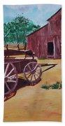 Wagons And Barns Beach Towel