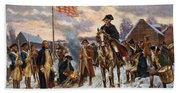Washington At Valley Forge Beach Towel