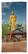 Wat Kham Chanot Golden Buddha Beach Towel by Adrian Evans