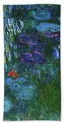 Water Lilies 1918 - Digital Remastered Edition Beach Towel