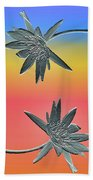 Water Lily Duo Beach Towel