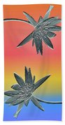 Water Lily Duo Two Beach Towel